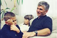 Zoran Đinđić sa ćerkom Jovanom i sinom Lukom