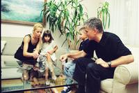 Zoran Đinđić sa porodicom