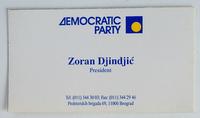 Vizit karta iz Demokratske stranke