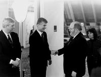 Zoran Đinđić, Ričard Majls i Miodrag Perišić, Beograd 3. februar 1995....